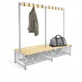 Changing Room Bench with shoe storage double sided
